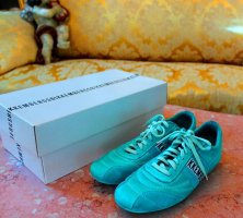 Bikkembergs Lace-Up Sneaker turquoise leather