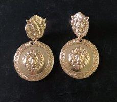 Designer Ohrringe Löwe 12 K vergoldet Neu