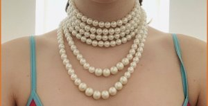 Sweet Deluxe Pearl Necklace cream