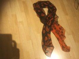 Alexander McQueen Zomersjaal zwart-oranje