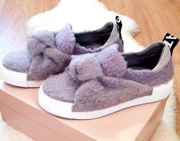 Designer Sneakers in Wolloptik und Echtleder