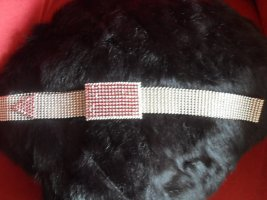 Chain Belt silver-colored-dark red