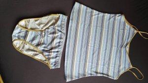 Dessous Set maritim gestreift Gr. 42/44 Unterhemd plus Slip NEU