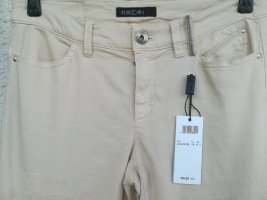 Marc Cain Stretch Trousers oatmeal cotton
