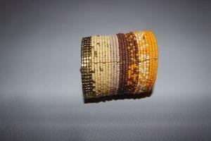 DETTAGLI Armband mit Perlen, orange braun, Onesize, NEU und ungetragen