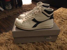 Diadora High Top Sneaker white-dark blue