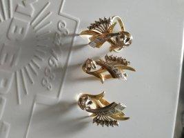 Diamant Ring Ohringe Set 585 gold