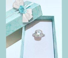 Diamant Ring Silber Edelstahhl Neu Originalverpackt