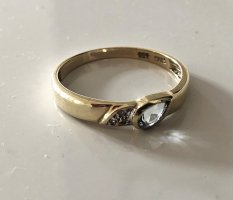Modern vintage Gold Ring multicolored