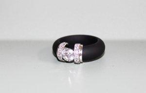 Diamonique  nero-argento