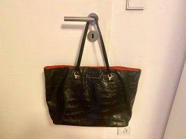 Diane von Furstenberg Borsa shopper nero-rosso neon Pelle