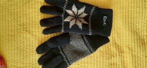 Gloves white-black