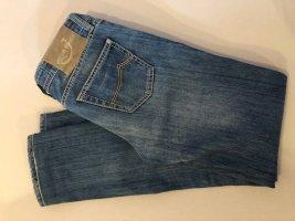 jakob cohen Jeans coupe-droite bleu acier coton