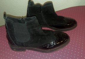 Chelsea Boot noir tissu mixte