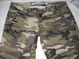 DIESEL Cargo Tarnhose Camouflage gerades Bein grün beige braun W 28 36 38 S M