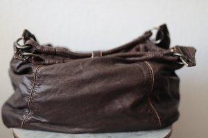 Diesel Bolsa de hombro marrón oscuro Cuero