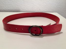 Diesel Leather Belt dark red leather