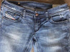 Diesel Industry Low Rise jeans korenblauw Katoen