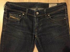 Diesel Jeans vita bassa blu scuro Cotone