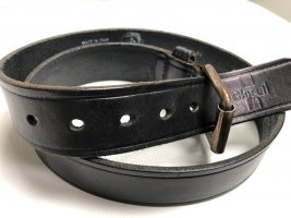Diesel Leather Belt black leather