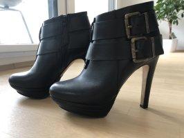 Diesel Heel Boots black leather