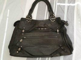 Diesel Lederhandtasche schwarz
