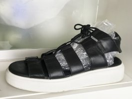 Diesel Roman Sandals black-white leather
