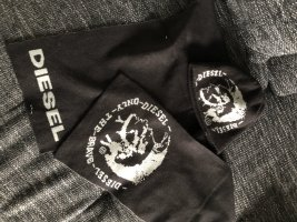 Diesel Knitted Scarf black-silver-colored