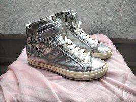 Diesel Industry Sneaker stringata argento Pelle
