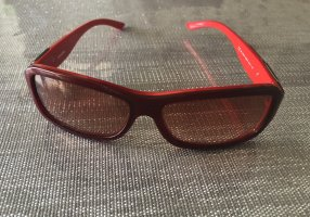 Diesel Angular Shaped Sunglasses red-dark red