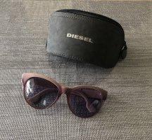 Diesel Occhiale a farfalla rosa antico-viola-grigio