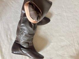 Diesel Kniehoge laarzen brons Leer