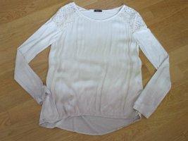 DiFF Schlupf-BLUSEN-Shirt –  Farbverlauf -BEIGE - IVORY-CREME-weiß - 36/38 - S - NP 79 € - LA-Tunika - MADE IN ITALY