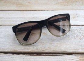 Dior Lunettes de soleil ovales noir-brun