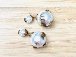 Dior Boucles d'oreilles en perles doré-blanc