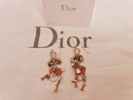 Dior Pendant d'oreille argenté-rose métal
