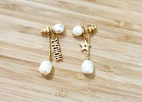 Dior Dangle gold-colored-white
