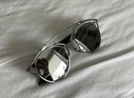 Christian Dior Okulary motylki srebrny