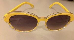 Christian Dior Occhiale da sole rotondo giallo scuro