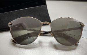 Christian Dior Okulary motylki złoto-srebrny