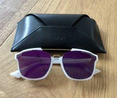 Dior Angular Shaped Sunglasses white