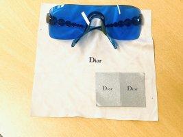 Dior Hoekige zonnebril neon blauw