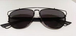 Dior Aviator Glasses black metal