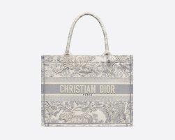 Christian Dior Handbag silver-colored
