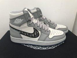 Dior Sneaker alta bianco-grigio chiaro Pelle