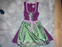 Ursl Trachten Dirndl forest green-purple