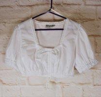 Lekra Country Life Blusa tradizionale bianco Tessuto misto