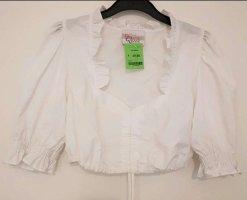 Dirndl-Bluse von Bavarian Queen, Größe 34, weiß