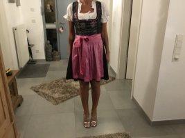 Turi Landhaus Dirndl nero-rosa