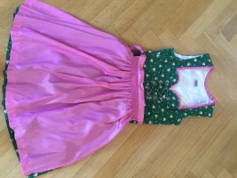 Country Line Dirndl forest green-pink